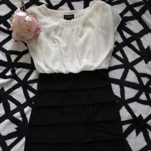 💖ENFOCUS STUDIO cream black pencil dress sz 6💖